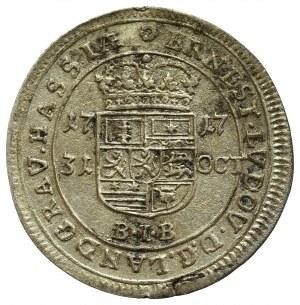 Niemcy, Ernest Ludwik von Hessen-Darmstadt, 10 krajcarów 1717 BIB, Darmstadt