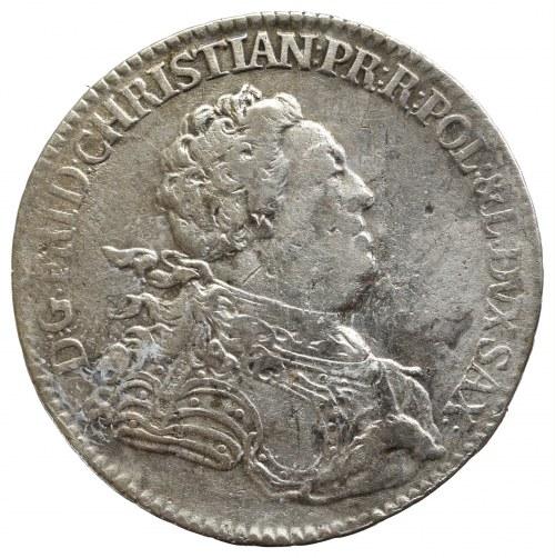 Saksonia, Fryderyk Krystian, 2/3 talara (gulden) 1763 FWôF, Drezno
