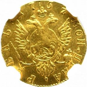 Rosja, Elżbieta, rubel 1757, Moskwa - NGC XF DETAILS