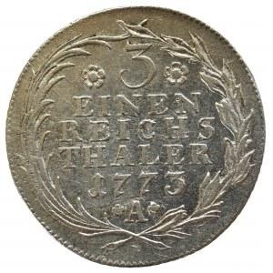 Niemcy, Prusy, Frederick II, 1/3 thaler 1773 Breslau