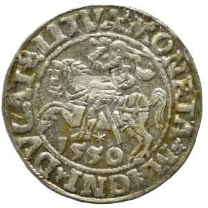 Zygmunt II August, Półgrosz 1550, Wilno - LI/LITVA