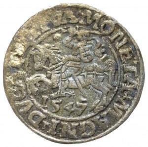 Zygmunt II August, Półgrosz 1547, Wilno - L/LITVA