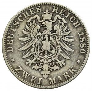 Niemcy, Prusy, 2 marki 1880