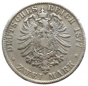 Niemcy, Saksonia, 2 marki 1877