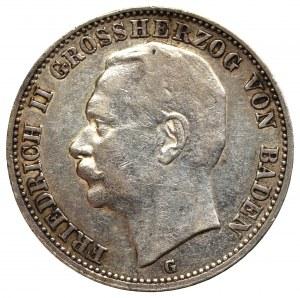 Niemcy, Badenia, 3 marki 1910