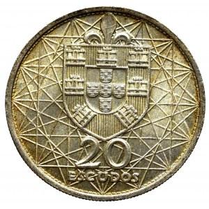 Portugal, 20 escudo 1965