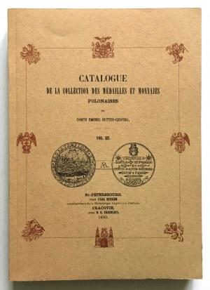 Hutten - Czapski Emeric, Catalogue de la collection des medailles et monnaies Polonaises, Vol. III - reprint