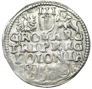 Zygmunt III Waza, Trojak 1596, Poznań - NIEOPISANY popiersie z 1597