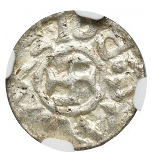 Bolislaus III as Duke of Schlesien, Denarius without date, Breslau (before 1107)