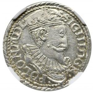 Sigismund III, 3 groschen 1597, Olcusia - NGC MS63