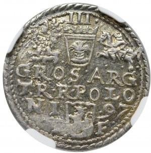 Zygmunt III Waza, Trojak 1597, Olkusz - NGC MS63