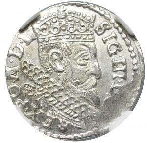 Zygmunt III Waza, Trojak 1598, Bydgoszcz - nieopisany NGC MS65