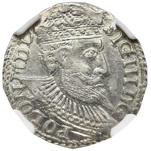 Sigismund III, 3 groschen 1598, Olcusia - NGC MS63+