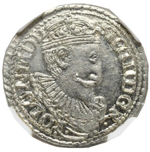 Sigismund III, 3 groschen 1597, Olcusia - NGC MS63+