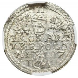 Zygmunt III Waza, Trojak 1597, Olkusz - NGC MS63+