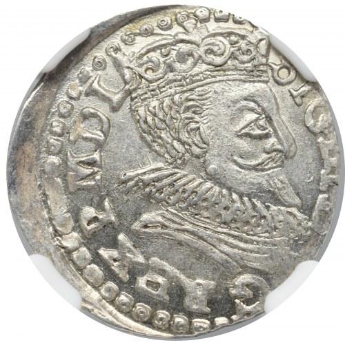 Zygmunt III Waza, Trojak 1598, Lublin - NGC MS64