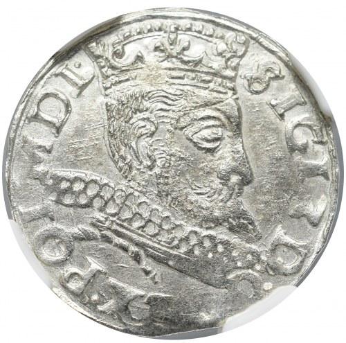 Zygmunt III Waza, Trojak 1598, Wschowa - nieopisany NGC MS61