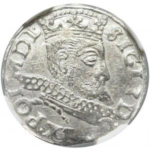 Sigismund III, 3 groschen 1598, Fraustadt - NGC MS65