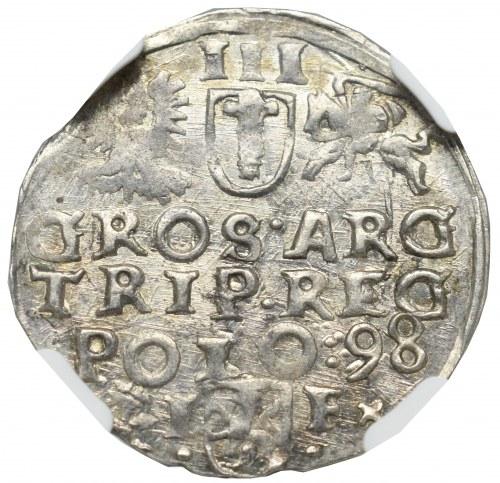 Zygmunt III Waza, Trojak 1598, Wschowa - NGC MS65