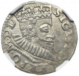 Sigismund III Vasa, 3 groschen 1594, Posen - NGC MS62