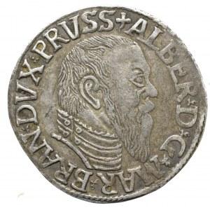 Prusy Książęce, Albert Hohenzollern, Trojak 1544, Królewiec - długa broda
