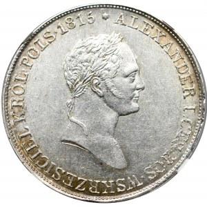 Królestwo Polskie, Mikołaj I, 5 złotych 1831 KG Warszawa - NGC MS61