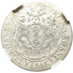 Jan II Kazimierz, Ort 1662, Gdańsk - rzadkość Lewek bez tarczy NGC MS62