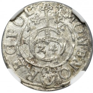 Zygmunt III Waza, Półtorak 1616, Bydgoszcz - NGC MS62