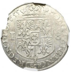 Jan II Kazimierz, Ort 1655, Kraków - NGC AU55