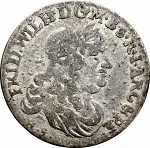 Prusy, Fryderyk Wilhelm, Szóstak, 1679 HS, Królewiec