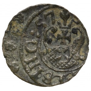 Karol X Gustaw, okupacja szwedzka Elbląg. Szeląg 1657 - RZADKOŚĆ