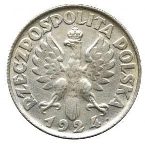 II Rzeczpospolita, 2 złote 1924 (literka H), Birmingam Kobieta i kłosy