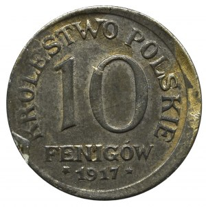 Kingdom of Poland, 10 pfennig 1917