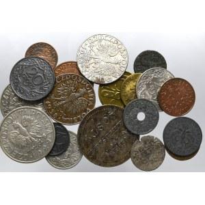 Zestaw monet polskich - 19 egzemplarzy