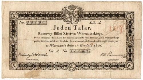 Księstwo Warszawskie, 1 talar 1810 A