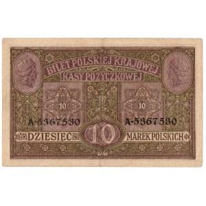 Generalne Gubernatorstwo, 10 marek polskich 1916 Biletów - Generał