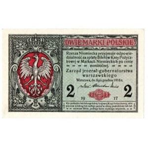 Generalne Gubernatorstwo, 2 marki polskie 1916 Jenerał
