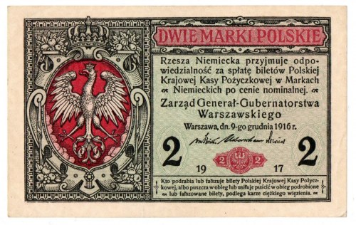 Generalne Gubernatorstwo, 2 marki polskie 1916 Generał