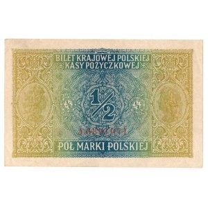 Generalne Gubernatorstwo, 1/2 marki polskiej 1916 Jenerał