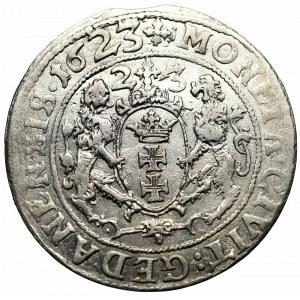 Zygmunt III Waza, Ort 1623 Gdańsk - data w polu i w otoku