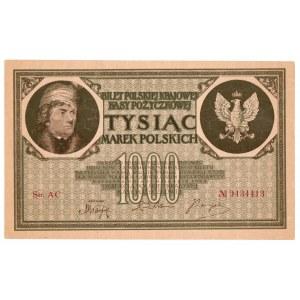 II RP, 1000 marek polskich 1919 AC