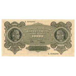 II RP, 10.000 marek polskich 1922 L