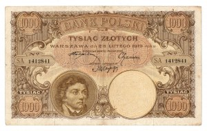 II RP, 1000 złotych 28 lutego 1919