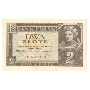 II RP, 2 złote 1936 26 lutego 1936 BN - Kolekcja Lucow