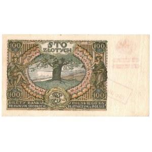 Generalne Gubernatorstwo, 100 złotych 1934 (1939) z nadrukiem, Kolekcja Lucow