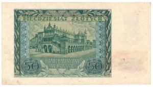 Generalne Gubernatorstwo, 50 złotych 1940 A