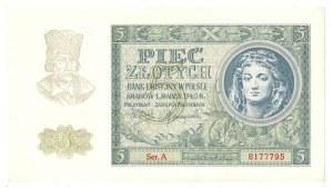 Generalne Gubernatorstwo, 5 złotych 1940 A