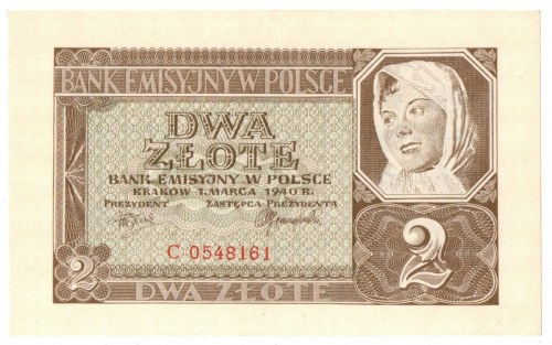 Generalne Gubernatorstwo, 2 złote 1940 C