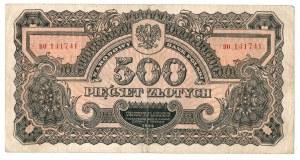 PRL, 500 złotych 1944, seria II
