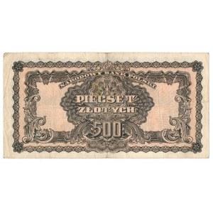 PRL, 500 złotych 1944, seria II ...obowiązkowe...